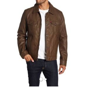 Levi's brown Classic Faux Leather Trucker Jacket